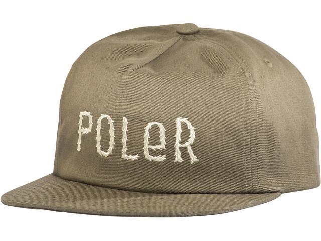 POLER Fur Font Snapback Gorra, burnt olive
